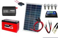 Kit de Energia Solar 100Wp