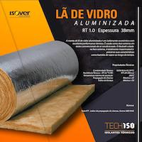 Lã de Vidro Aluminizada 38mm Isover