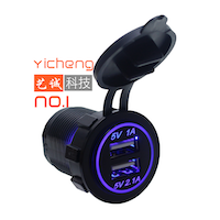 Tomada USB 12V Redonda Yicheng